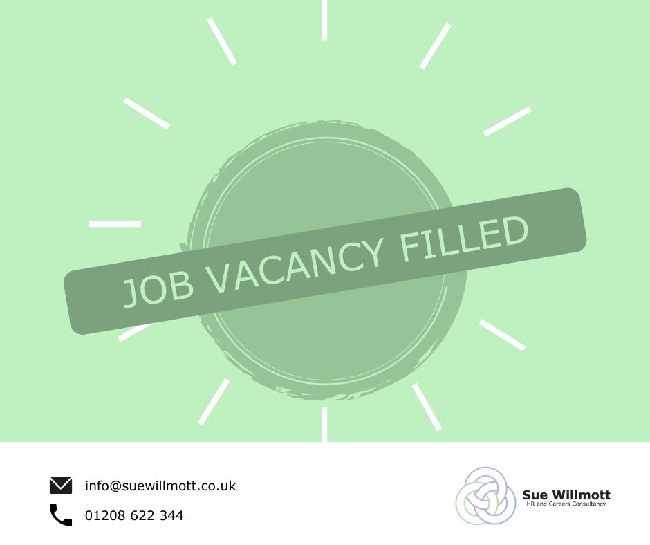 Job vacancy filled